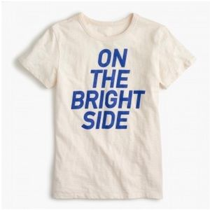 "J Crew ""On The Bright Side"" Tee, Size M"